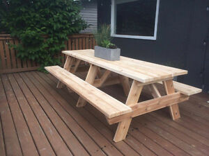 Cedar Picnic tables - 3ft to 10ft sizes