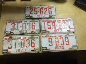 1973 Newfoundland license plates