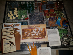 Rare hero quest rpg board game 1990