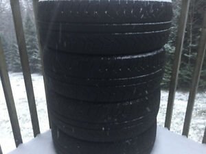 Four P225/60R17 Winter Tires