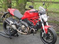 DUCATI MONSTER 821, 2015/15, JUST 3,509 MILES WITH FSH