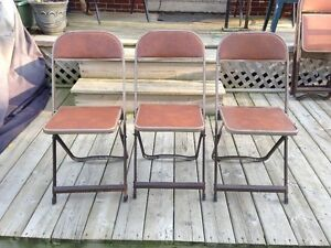 Lot Vintage Metal Chairs From 1970's Made In Ontario