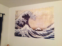 The wave, starry night and Van Gogh posters $15