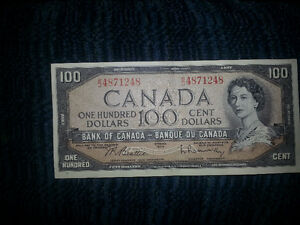 LOOKING TO PURCHASE OLD PAPER MONEY FROM B4 1989................ London Ontario image 4