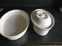 White bakeware dishes