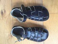Boys Shark Saltwater Sandals Navy size 12 (uk 11)