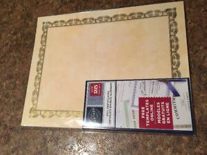 1750 blank Gold Leaf Gardner Certificates