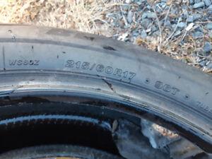 Bridgestone winter tire. 215/60/17