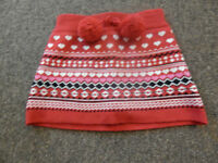 """""""Joe Fresh """"Red baby toddler knitted skirt  short for 3 years"""