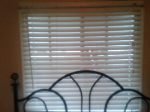 Faux Wooden Window Blinds- Like New!!