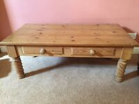 Solid wood pine coffee table
