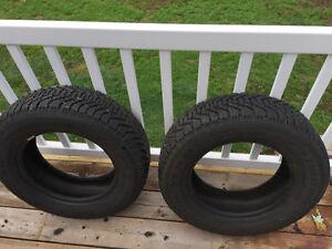 2 Goodyear Nordic Winter tires P205/65R15