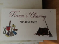 Cleaner Availble and snow shoveller Sunday's only