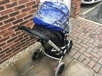 Mothercare baby pram pushchair with car seat
