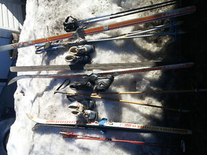 3 Pairs of Cross Country Skis w/ Boots & Poles