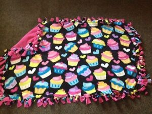 Cupcake handmade fleece blanket