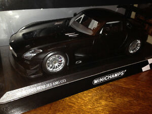1/18 Diecast minichamps Mercedes-Benz SLS AMG gt3 Matt black new