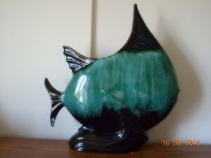 Huge Vintage Angelfish by Blue Mountain Pottery
