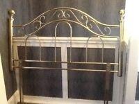 Brass effect headboard for sale