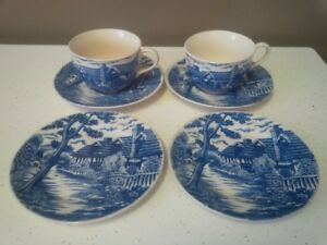 Cup and Saucer with Dessert Plates