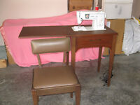 Singer sewing machine, cabinet and bench for sale