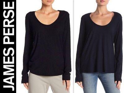 NWT JAMES PERSE Cotton/Modal Slub knit Scoop Tee top WSVH3549CU 1/2 $115