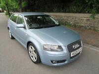 2005 '05' AUDI A3 2.0 TDI SPORT 5 DOOR HATCH IN MET LIGHT BLUE