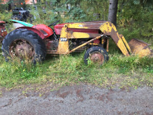 Massey 65 Tractor with heavy front end loader.