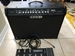 Line 6 Spider IV 150 with foot pedal