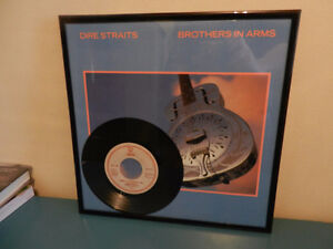 """Classic Rock Records Dire Straits Newly Framed with 7"""" Single"""