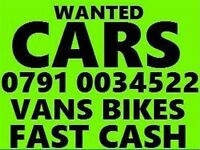 07910034522 SELL YOUR CAR VAN BIKE WANTED FOR CASH BUY MY SCRAP NO Mot