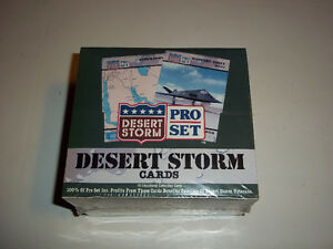 Full Sealed Box of PRO SET Desert Storm Collector Cards