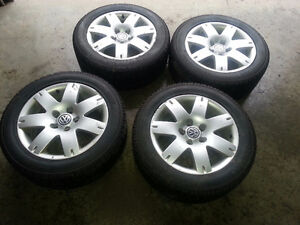 4 VW Alloy Rims and Winter Tires