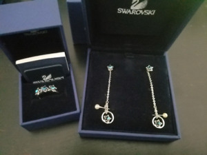 AUTHENTIC Swarovski Star Ring and Earring set