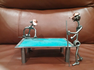 Pool Game Metal Sculpture