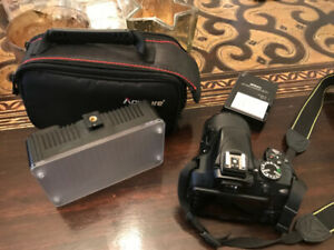 Nikon D3300 DSLR Camera with Lens, Bag and LED Light  $500 O.B.O