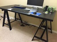 Desk Black Brown Ikea TORNLIDEN ODDVALD