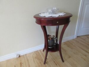 Round table with drawer $25 { and more furniture for sale }