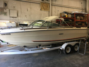 All Original 20 Foot Sea Ray Closed Bow with Tandem Trailer