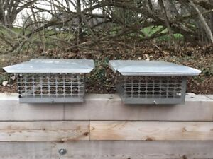 Two Stainless Steel Chimney Caps