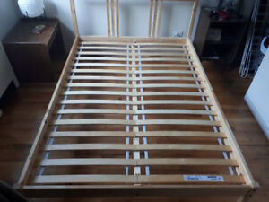 IKEA Pine Queen-Size Bed Frame
