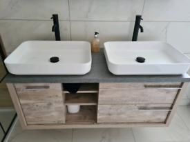 2 x white sink (basins only) brand new