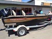 2009 Princecraft Holiday DLX bateau de pêche /Fishing Boat 60 hp