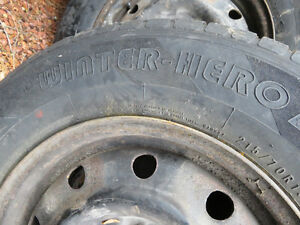 Winter Tires Set of 5 ON RIMS from 2006 Grand Caravan 275 Cambridge Kitchener Area image 1
