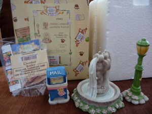 Cherished Teddies Accessories-Lamp Post, Fountain, Mail Bx-CT983 London Ontario image 1