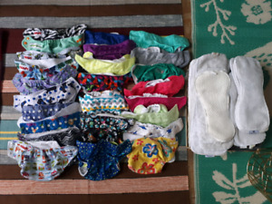 AMAZING DISCOUNT full lot of cloth diapers and inserts