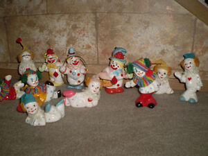 Vintage ceramic clowns 11 in total Strathcona County Edmonton Area image 2