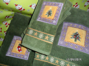 Set of Christmas Towels - Perfect Condition/Never Used