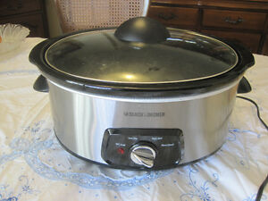 Crock-Pot 7 Qt Stainless Steel Oval Slow Cooker
