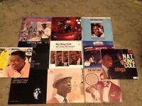 Nat King Cole vinyl joblot collection x11